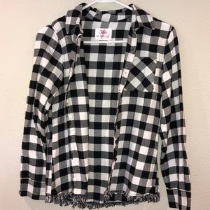 Justice Girls Black/white Flannel